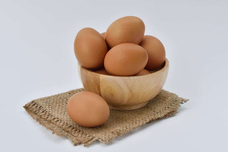 An egg on top of a table